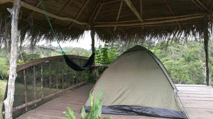Ma tente et mon hamac